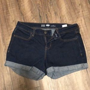 Old Navy Dark Wash Semi-Fitted Jean Shorts